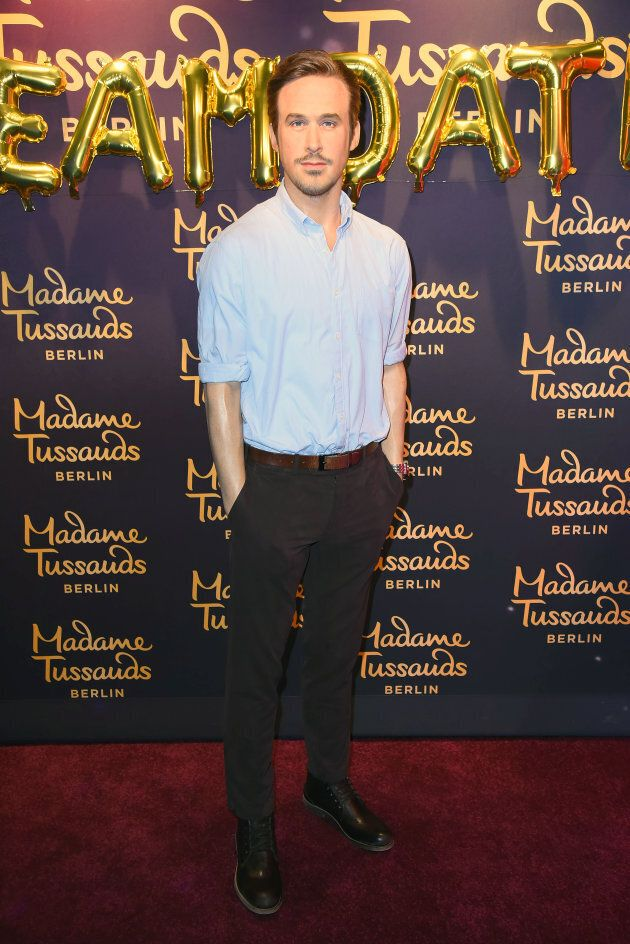 Ryan Gosling's wax figure at Madame Tussauds in Berlin, Germany. (Photo by Tristar Media/Getty