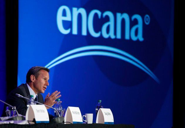 Doug Suttles, president and CEO of Encana, addresses shareholders at the company's annual meeting in...