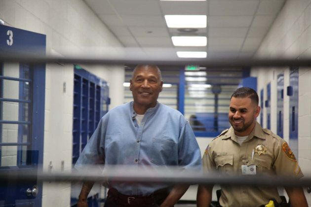 O.J. Simpson arrives for his parole hearing in at Lovelock Correctional Centre in Nevada on