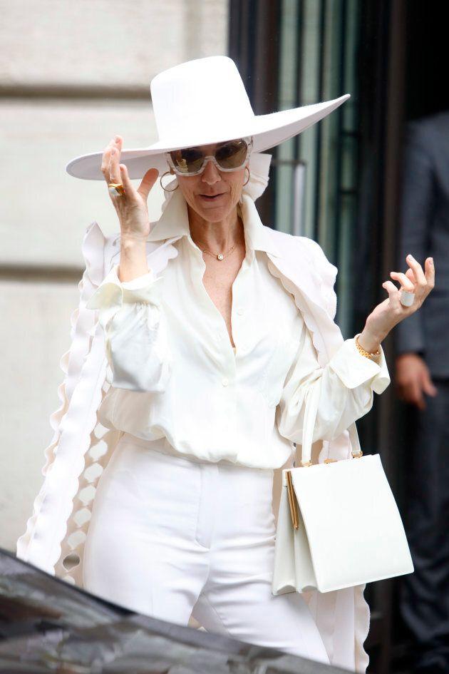 Celine Dion leaves her hotel in Paris, France, on July 12,