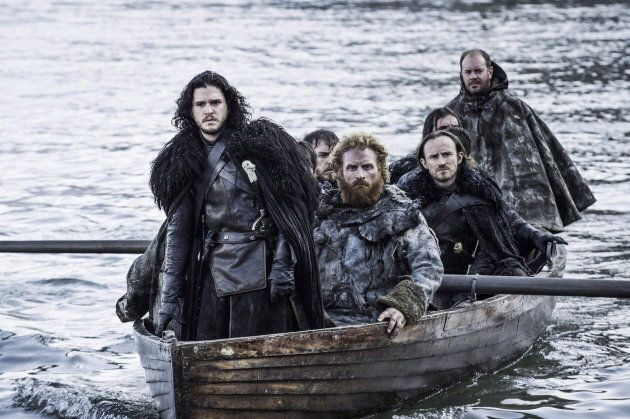 Kit Harington as Jon Snow, left, in a scene from Game of