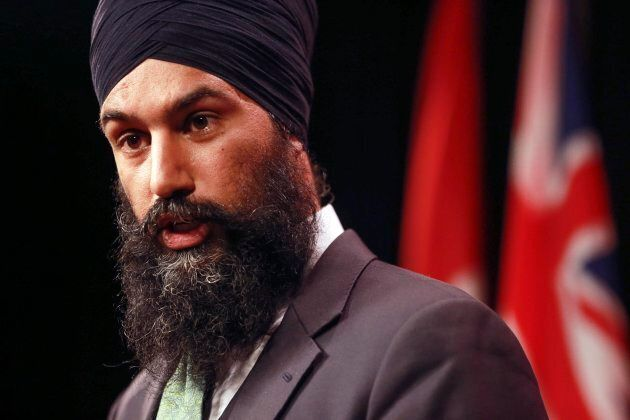 Brampton MPP and deputy Ontario NDP leader Jagmeet Singh at a news conference at Queen's Park, Oct. 28,