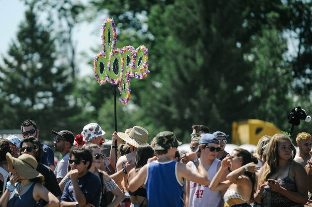Music fans attend the 2016 Way Home Music Festival on July 22, 2016 in Oro-Medonte,