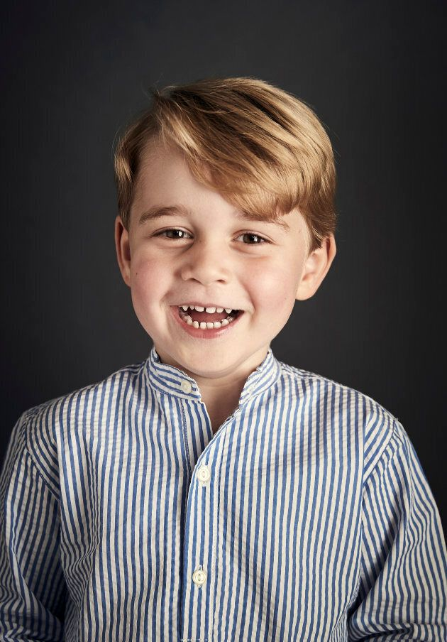 A new portrait of Prince George was released by the Royal