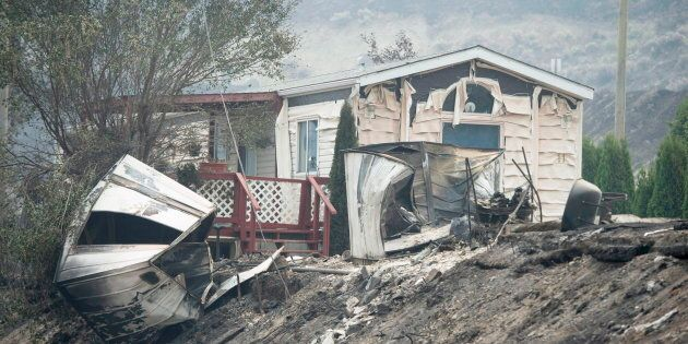 The area of Boston Flats, B.C. is pictured Tuesday, July 11, 2017 after a wildfire ripped through the...