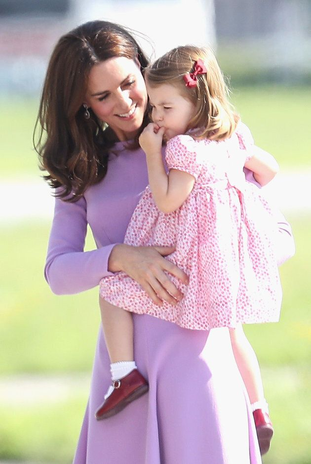 The Duchess and Princess Charlotte. (Photo by Chris Jackson/Getty Images)