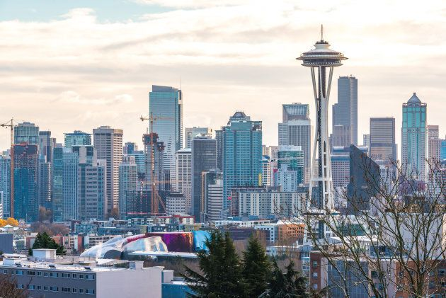 The Seattle skyline. Seattle and Vancouver could find themselves connected by high-speed rail under ideas...