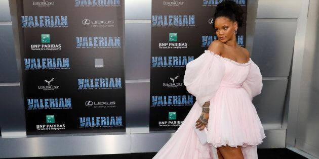 Cast member Rihanna at the premiere for