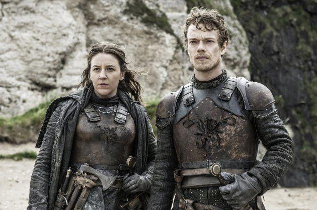 Yara and Theon Greyjoy, played by Gemma Whelan and Alfie