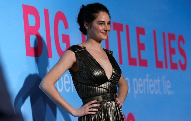 Shailene Woodley poses at the premiere of the HBO television series