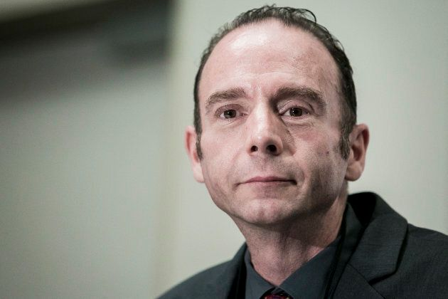 Timothy Ray Brown, known as the 'Berlin Patient' and the only person to have been cured of AIDS, holds a press conference to announce the launch of the Timothy Ray Brown Foundation at the Westin City Center hotel on July 24, 2012 in Washington, D.C.