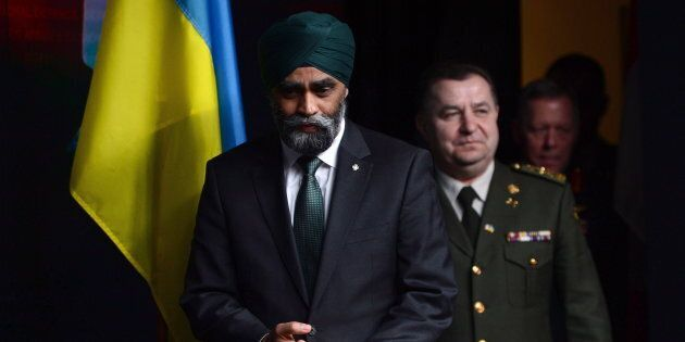 Defence Minister Harjit Sajjan and his Ukrainian counterpart, Defence Minister Stepan Poltorak, meet...