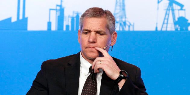 Russ Girling, chief executive of TransCanada Corp., at the annual IHS CERAWeek conference in Houston,...