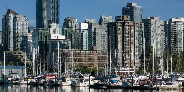 Condo towers and apartment buildings in Vancouver's Coal Harbour. The province's new government is reviewing...