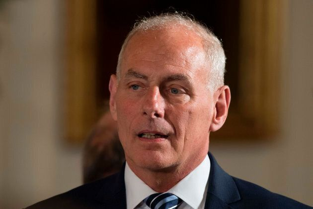 Newly sworn-in White House Chief of Staff John Kelly is shown at the White House in Washington, D.C.,...