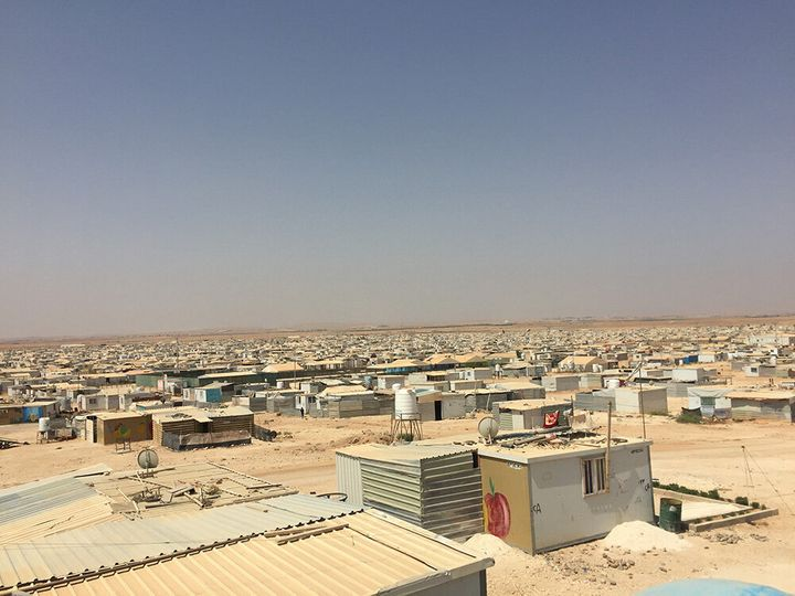Za'atari refugee camp hosts 80,000 Syrians, more than half of whom are children.