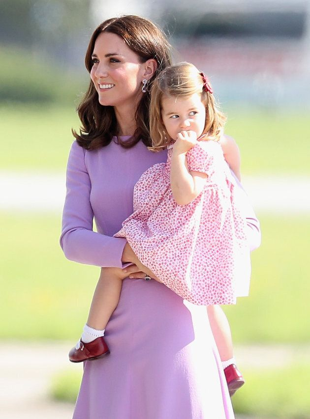 Catherine, Duchess of Cambridge, and Princess Charlotte in Hamburg, Germany. (Photo by Chris Jackson/Getty