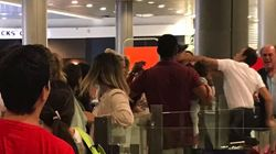 Passenger Holding Baby Allegedly Socked In Face By Airport