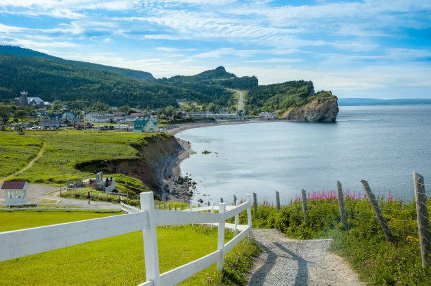 Coast of Gaspe Peninsula at Perce,