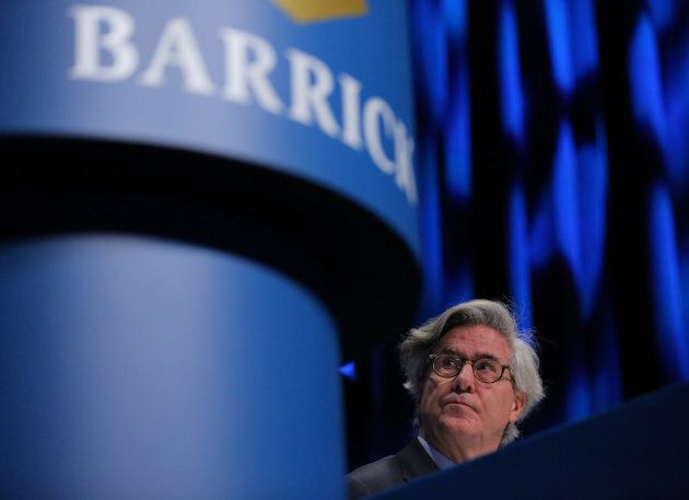 Barrick Gold Executive Chairman John Thornton attends the company's annual shareholders meeting in Toronto,...