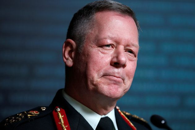 Canada's Chief of the Defence Staff General Jonathan Vance takes part in a news conference on the findings...