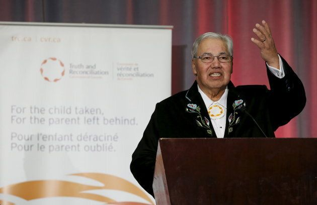 Justice Murray Sinclair speaks during the release of the Truth and Reconciliation Commission's final...