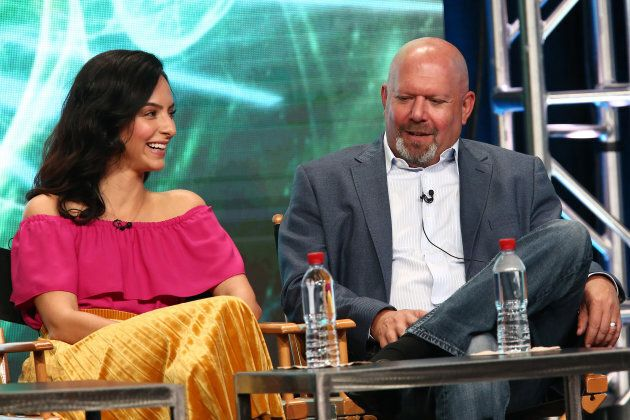 Tala Ashe and Marc Guggenheim attend the 2017 Summer Television Critics Association Tour at The Beverly Hilton Hotel on Wednesday in Beverly Hills, Calif.