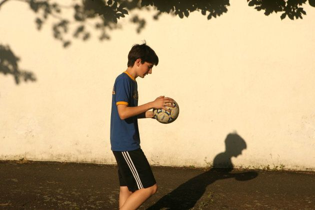 Harry Stutchbury, shown here in 2006 at the age of 14, can no longer play soccer because he suffers from...