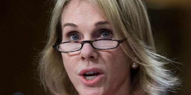 Kelly Knight Craft, newly confirmed ambassador to Canada, attends her Senate Foreign Relations Committee...
