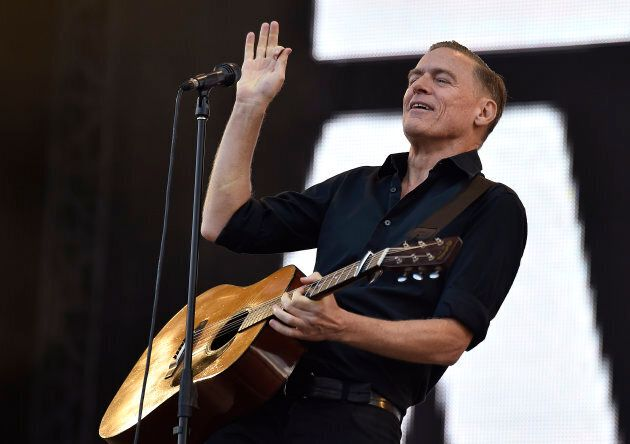 Bryan Adams sings during the closing ceremony for the Invictus Games at the Olympic Park in east London, September 14, 2014.