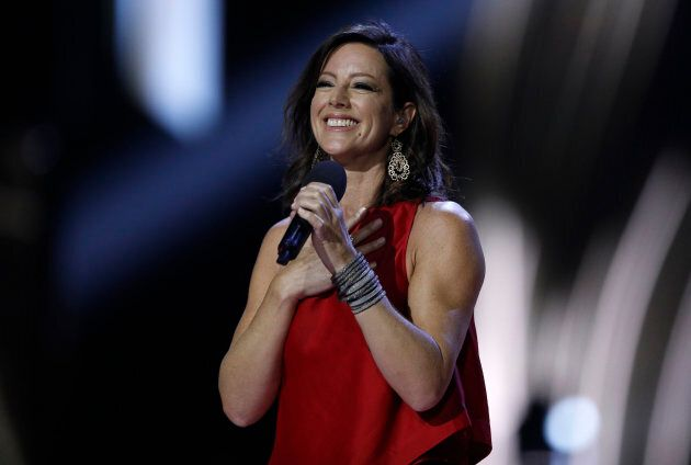 Sarah McLachlan being Inducted into the Canadian Music Hall of Fame at the 2017 Juno Awards in Ottawa,...