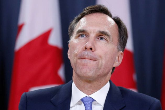 Canada's Finance Minister Bill Morneau takes part in a news conference in Ottawa, July 18,
