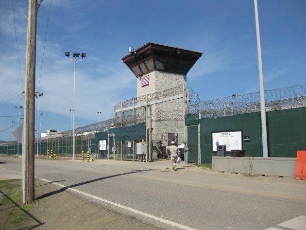 The Camp VI entrance to Guantanamo, where Omar Khadr's flawed military trial proceedings were held in