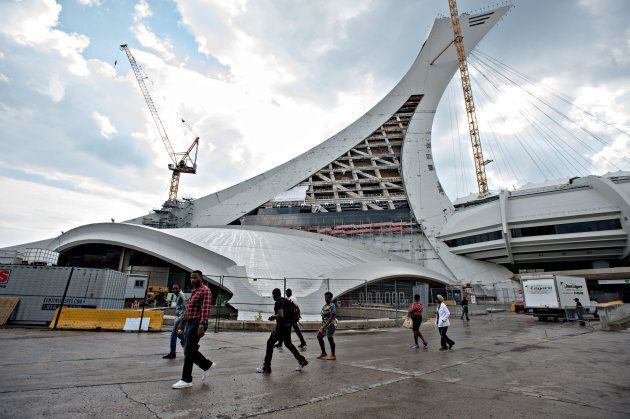 A surge in refugee applicants has forced authorities to use Montreal's former Olympic Stadium as a temporary...