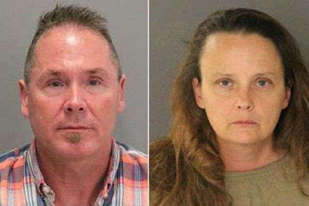 Michael Kellar (left) and Gail Burnworth were arrested after a bystander spotted Kellar texting about...