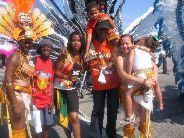 Nneka Elliott and her family at Toronto