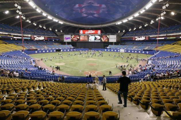 Montreal's Olympic Stadium before the final Expos home game ever on September 29,