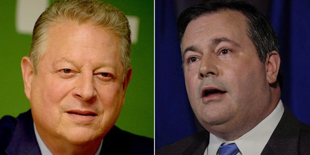 Former U.S. Vice President Al Gore's (R) comments about Alberta's oilsands irked Jason Kenney, who slammed...