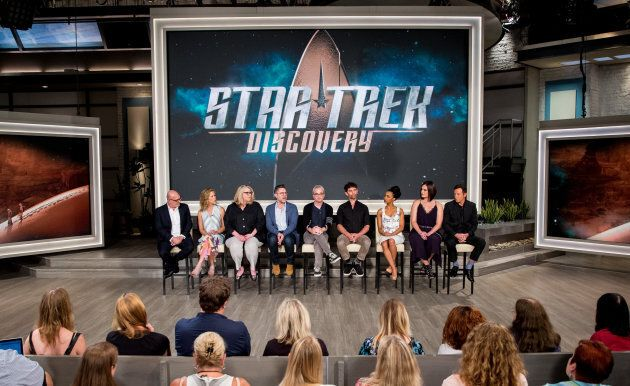 """A panel session for the new CBS All Access show, """"Star Trek: Discovery,"""" at the TCA presentations at CBS Studio Center in Los Angeles, August 1, 2017."""