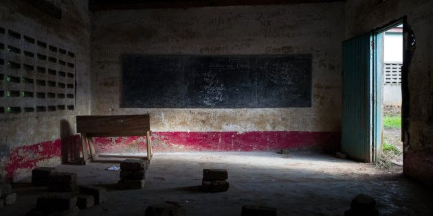 Tshinyama Primary School is one of four schools plundered during the conflict between Kamuina Nsapu movement...