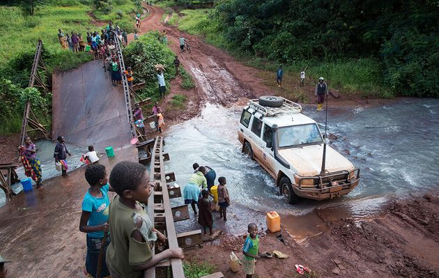Broken bridges, muddy roads and a mobile population of displaced people in need; these are just some...