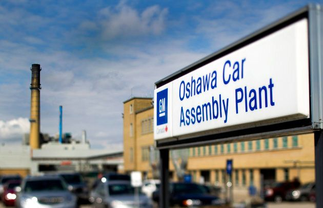 The General Motors assembly in Oshawa, Ontario, photographed with a tilt-shift lens. Ontario's auto manufacturing...