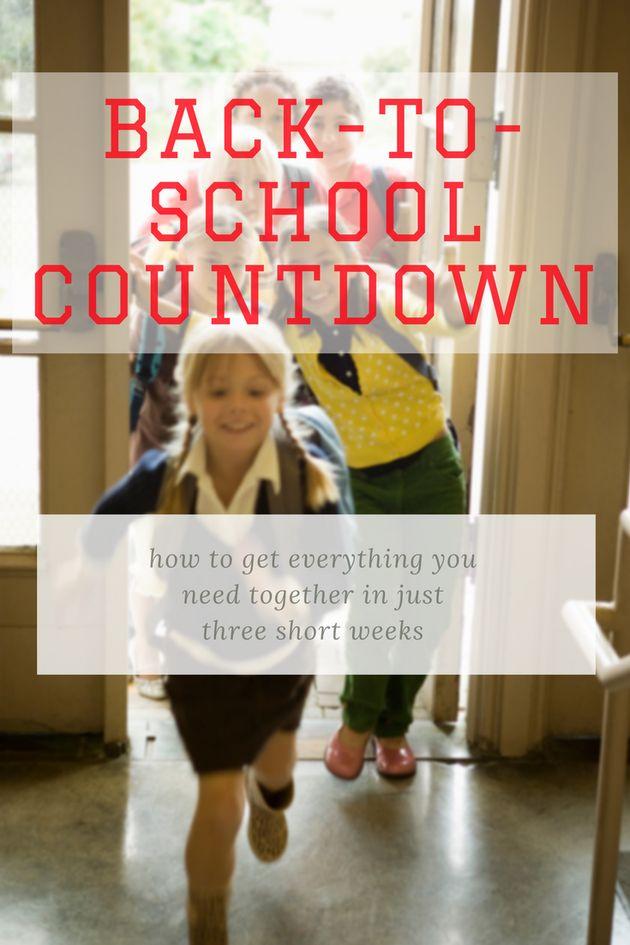 The 3-Week Countdown To School