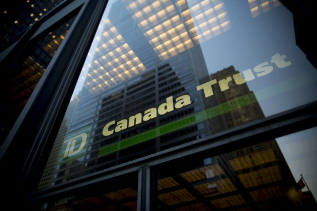 Signage is displayed on a Toronto-Dominion Bank (TD) building in Toronto, Ont., on Friday, May 19,