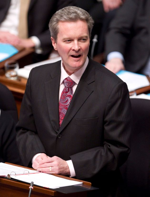 Former B.C. finance minister ? and now AdvantageBC CEO ? Colin Hansen delivers the budget in the B.C....