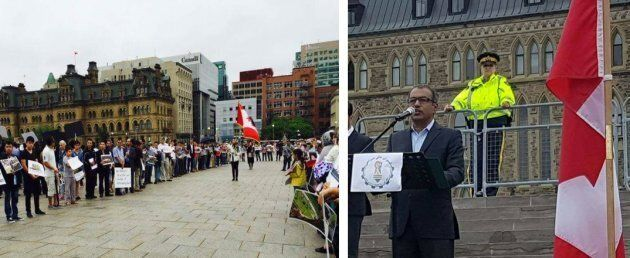 Aug. 13 2016, Ottawa. Afghan-Canadians asking Canada to stand up for the human rights of the
