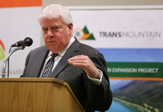 Kinder Morgan Canada President Ian Anderson speaks about the proposed expansion of the Trans Mountain...