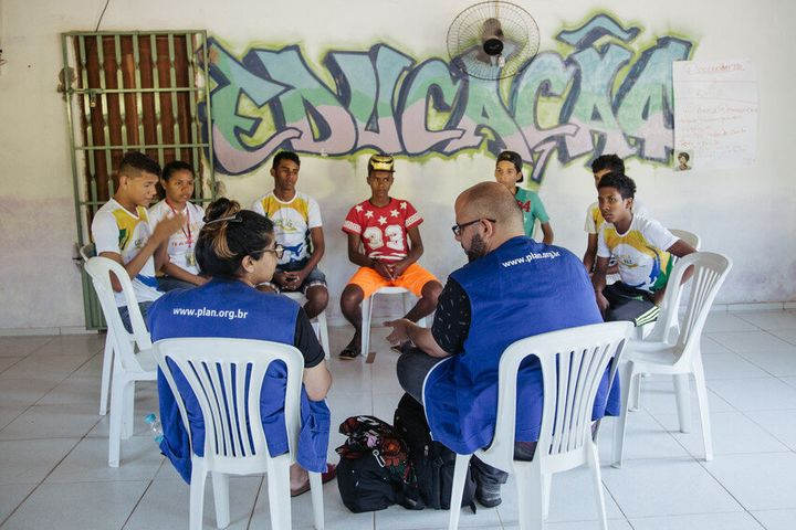 Youth take part in a Champions of Change workshop where they learn to be peer educators for gender equality and girls' rights.