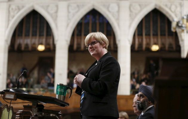 Canada's Minister of Sport and Persons with Disabilities Carla Qualtrough speaks during Question Period in the House of Commons on Parliament Hill in Ottawa, Ont.