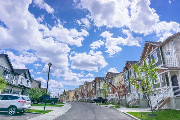Suburbs in Calgary, Alta.